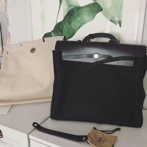 Vintage Hermes Herbag Tote Bag Purse 2 in 1!